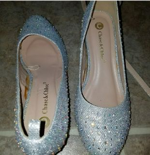 Silver Bling Wedges