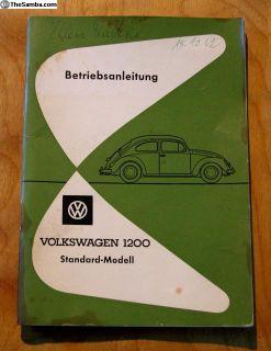 1963 German Standard Beetle Owner's Manual