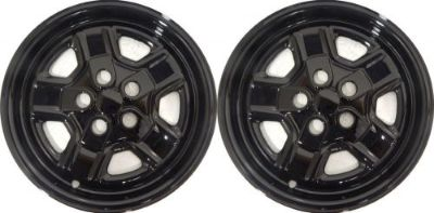 """Purchase (2) 2014 JEEP COMPASS 16"""" BLACK WHEEL SKINS / LINERS / HUBCAPS IMP-78 motorcycle in Troy, Michigan, United States, for US $59.99"""