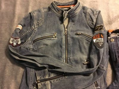 Women s Harley Davidson Matching Denim Jacket & Pants