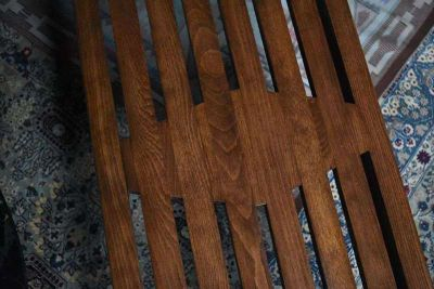Vintage MCM Wood Slat Coffee Table/Bench