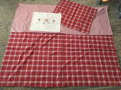 Red Plaid TWIN Duvet Cover, Sham & Accent Pillow Case from Pottery Barn