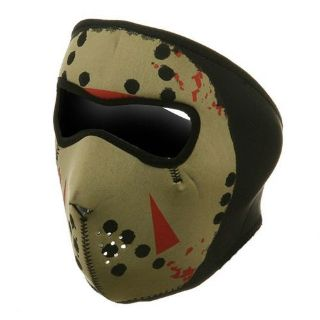 Sell Zan Headgear Jason Vorhees Neoprene Full Face Biker Ski Mask Glow In The Dark motorcycle in Bemidji, Minnesota, United States, for US $14.99