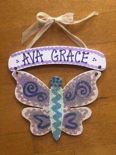 Sparkle Butterfly Wall Decor - Purple