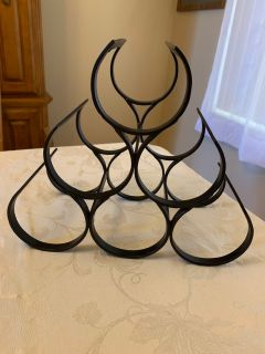 Crate & Barrel rod iron wine rack