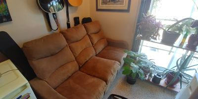 Apartment reclining couch