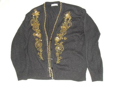 beautiful black and gold sweater
