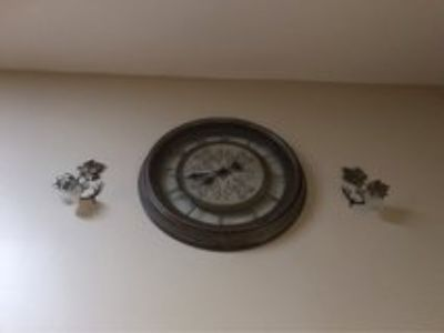 Wall Clock and Sconces