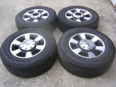 """Ford F50 Wheels OEM 18"""" Complete Set with Center Caps"""