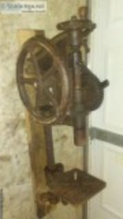 Antique Drill Press - Wall Mount