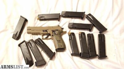 For Sale: Slightly used P226 Sig Sauer Scorpion with multiple 18 round magazines and a couple of 20 round