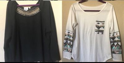 Size 3x and large tops
