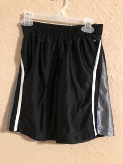 Black and Grey Sports Gym Shorts. Nice Condition. Size 6-7. Has Side Pockets