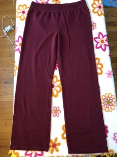 Woman s maroon colored sweat pants, never wore