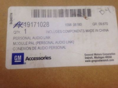 Purchase GM OEM Part # 19171028 Audio Link For HHR, Cobalt, Saturn Sky, Pontiac Solstice motorcycle in Lansing, Michigan, United States, for US $100.00