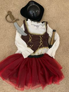 Pirate Costume small girl 4-6