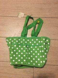 NWT Canvas Lunch Bag Tote - 6 by 6 1/3 by 5
