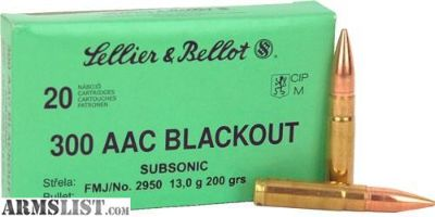 For Sale: BLOWOUT SALE SELLIER & BELLOT S&B 300 AAC BLACKOUT 200GR FMJ SUBSONIC