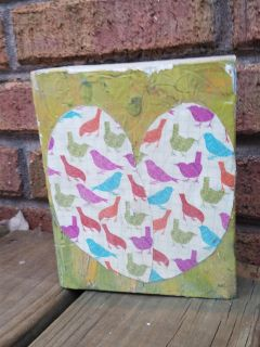 distressed art block by shebchic