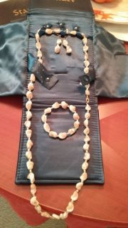 Stauer Maris Mother of Pearl Necklace Set