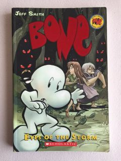 Bone Eyes of the Storm by Jeff Smith Soft Cover Comic Book Scholastic Grade 4th - 7th