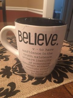 Large Coffee Cup-Believe