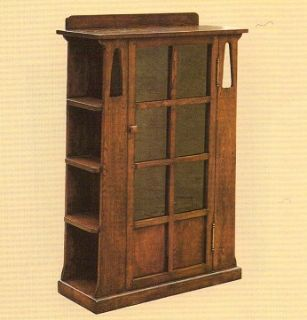 Arts and Crafts Mission Oak Bookcase with sides...