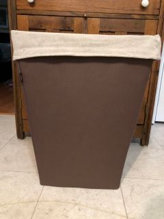 Canvas Hamper, EUC, bought at Lowe s, 22 tall, 17 across, 12 deep
