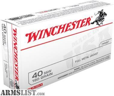 For Sale: Winchester Ammo Q4238 Best Value 40 Smith & Wesson 180 GR Full Metal Jacket 50 rounds-flat rate shipping 14.95