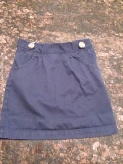 @Class, navy blue uniform skirt, adjustable waist, size 5, excellent used condition