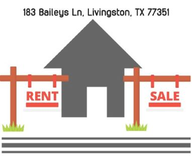 A beautiful house for rent / sale in Livingston TX!