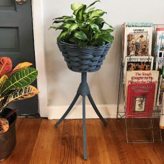 Vintage Woven Plant Stand