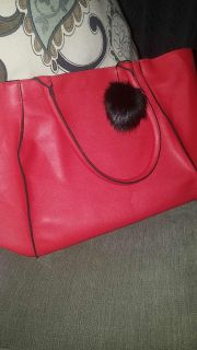 Large red tote