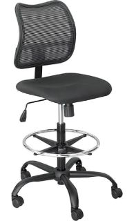 NEW-Safco Vue Nylon Mesh Back Fabric Computer and Desk Chair, Black