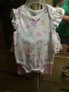 Size 3-6 Month NWT Butterfly Outfit
