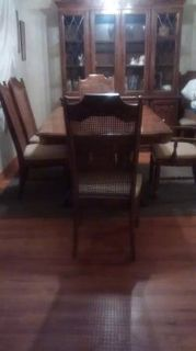 Dining Room Table, Chairs and China Cabinet