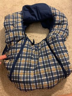Infant Car seat cover. Perfect for winter!