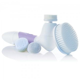 Vitagoods Face & Body Rotating Exfoliating Brush and extra accessories
