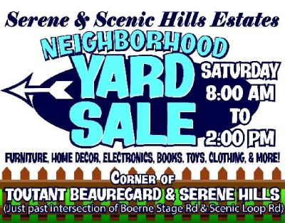 Huge Neighborhood Yard Sale - April 14 - Serene & Scenic Hills Estates