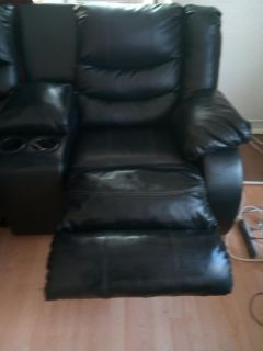 Ashley Signature Leather Couch and Love Seat
