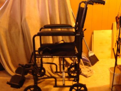 transport wheel chair with cushion for small adult/kid size