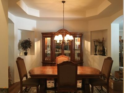 Dining Room Table and Buffet with Hutch