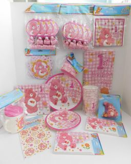 Care Bears Girls 1st Birthday Party Supplies Ultimate Huge Lot NIP