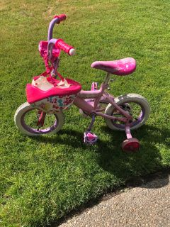 FREE! Princess bike and helmet. Fits riders ages 4-5