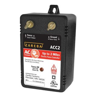 Zareba ACC2 Electric Powered Solid State 2-Mile Fence Charger