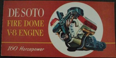 Buy 1953 DeSoto Fire Dome V8 Engine Pocket Size Dealer Sales Brochure motorcycle in Holts Summit, Missouri, United States, for US $18.53