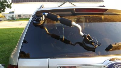 Suction boat roller to get kayak or canoe on top of car. $10