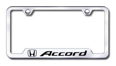 Find Honda Accord Engraved Chrome Cut-Out License Plate Frame Made in USA Genuine motorcycle in San Tan Valley, Arizona, US, for US $31.19