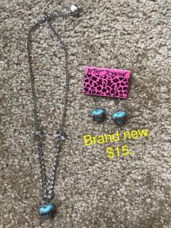 Betsey Johnson matching earrings and necklace