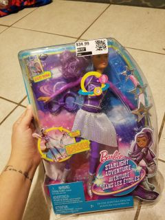 New! Starlight adventure lights & sounds hoverboard barbie